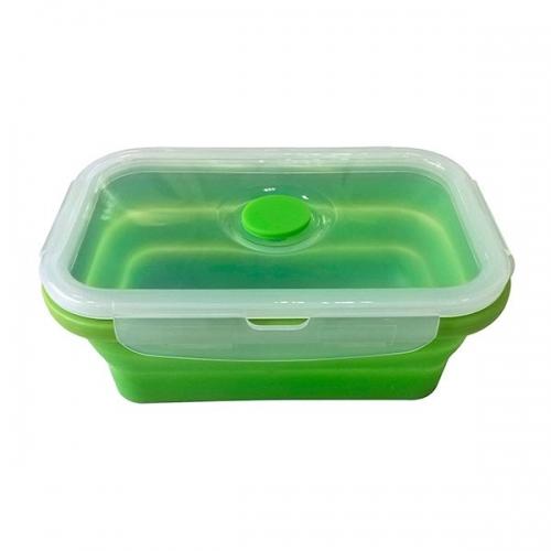 Ланчбокс силиконовый складной 800 мл (зелёный)